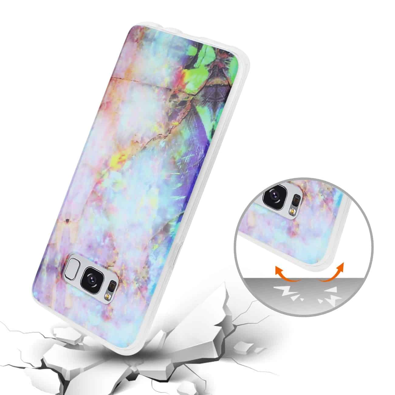 SAMSUNG GALAXY S8/ SM OPAL IPHONE COVER IN MIX COLOR
