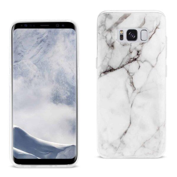 Samsung Galaxy S8/ Sm Streak Marble Cover In White
