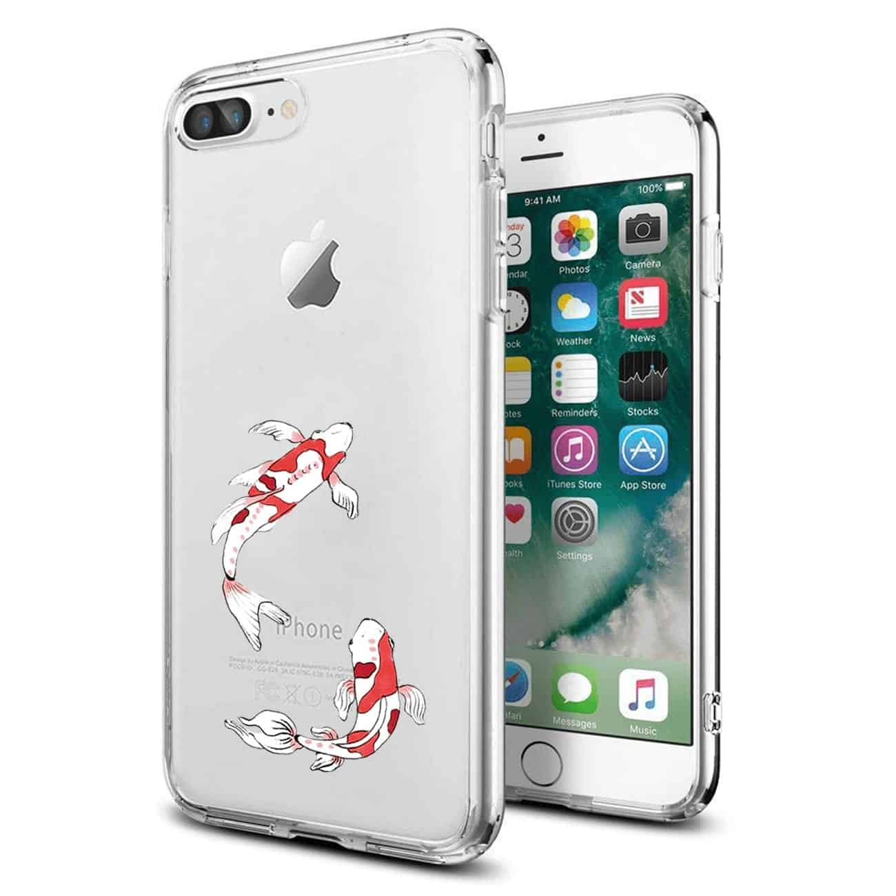 Apple iPhone 8 PLUS Design Air Cushion Case With Fish In Blue