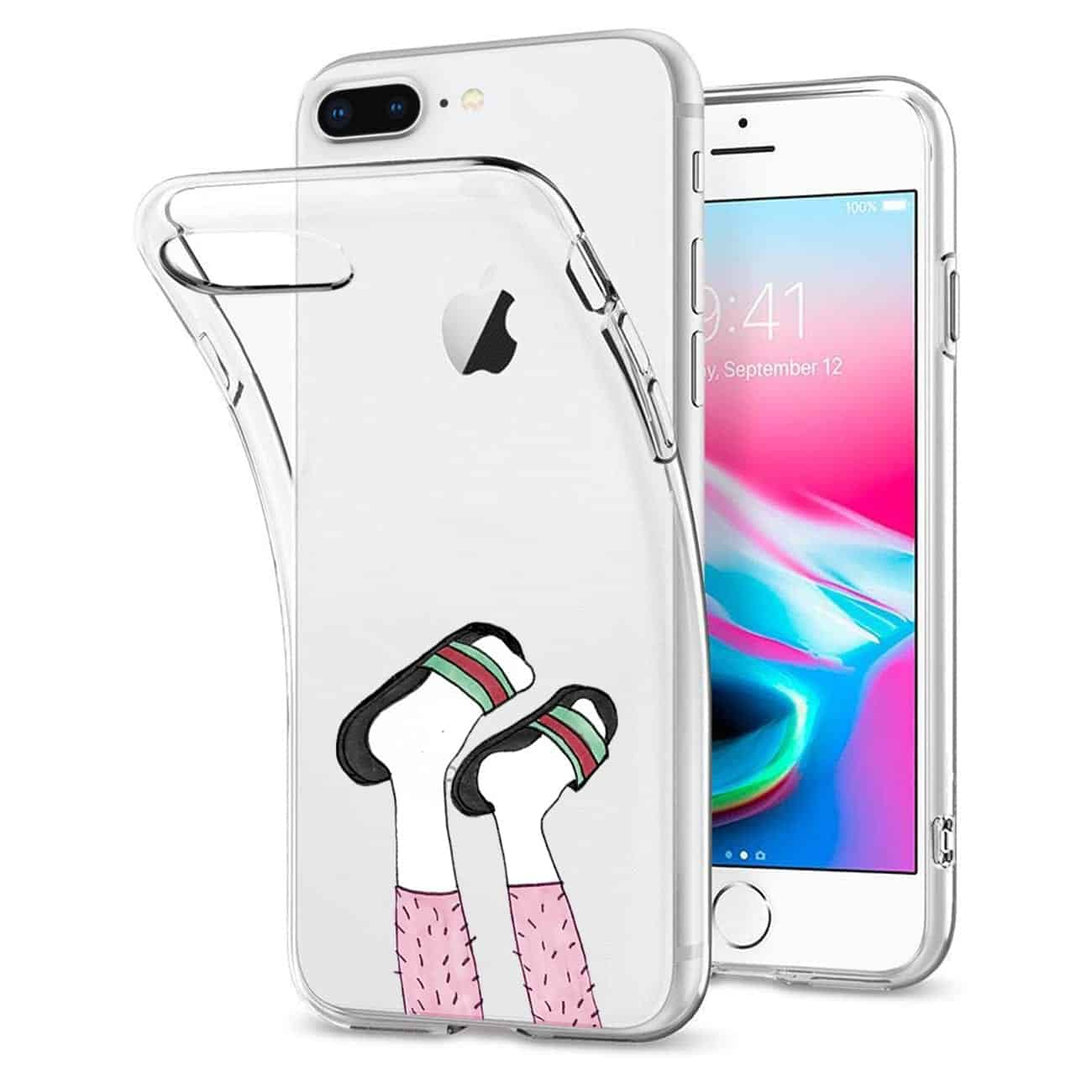 Apple iPhone 8 PLUS Design Air Cushion Case With Feet in White