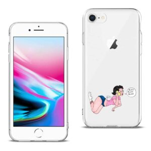 Apple iPhone 8 Design Air Cushion Case With Feet in White
