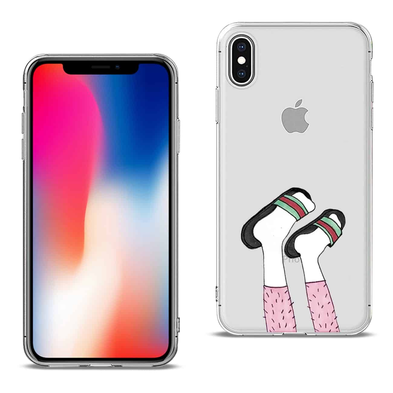 Apple iPhone X Design Air Cushion Case With Feet in White