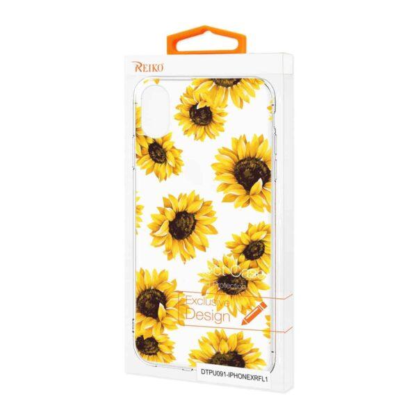 iPhone XR Flower Design Air Cushion Case In Clear