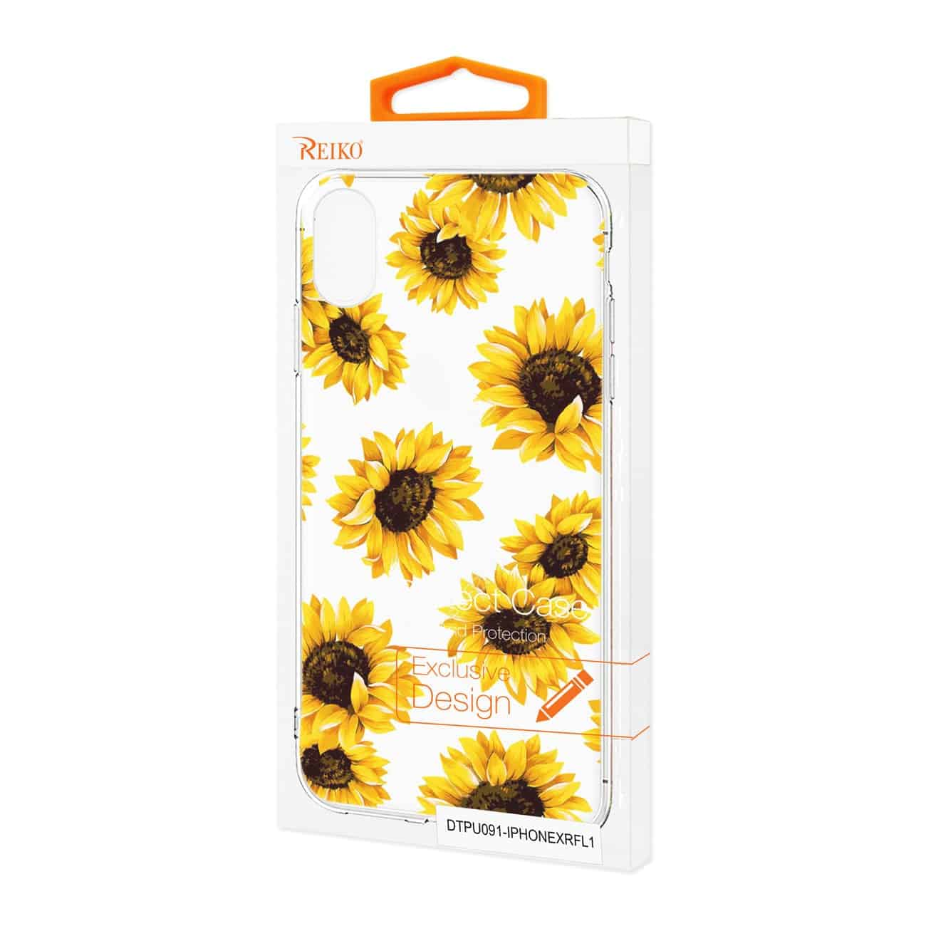 iPhone XR Flower Design Air Cushion Case In Clear
