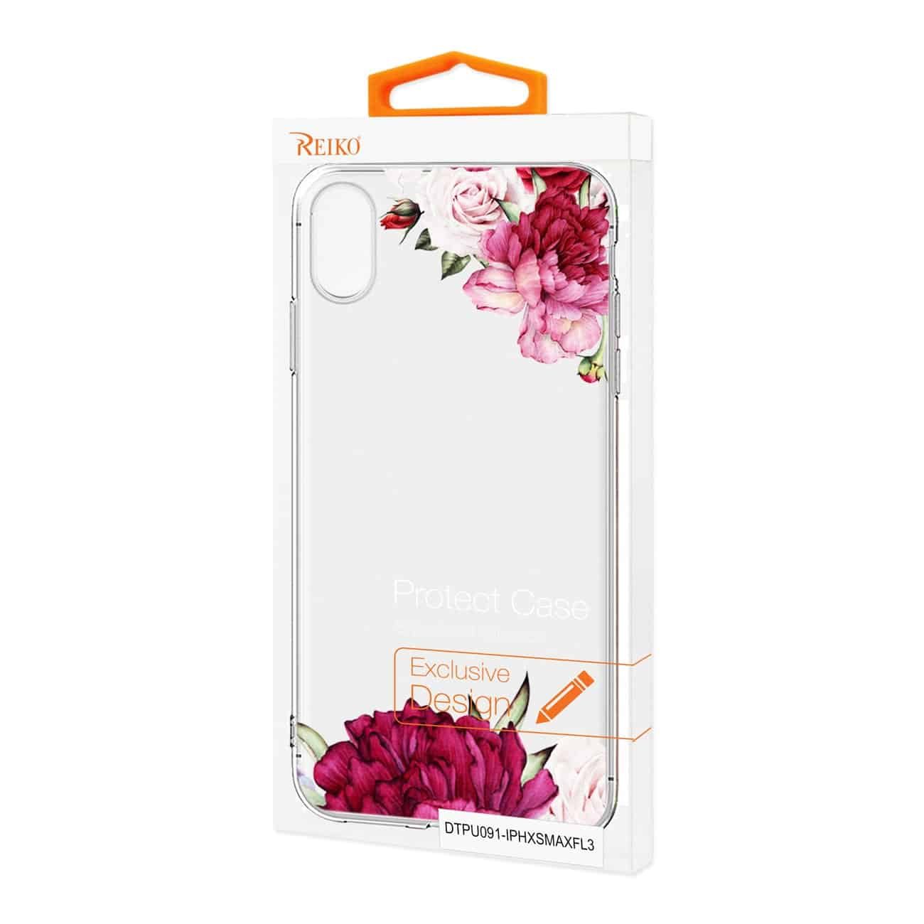 iPhone XS MAX Flower Design Air Cushion Case In Clear