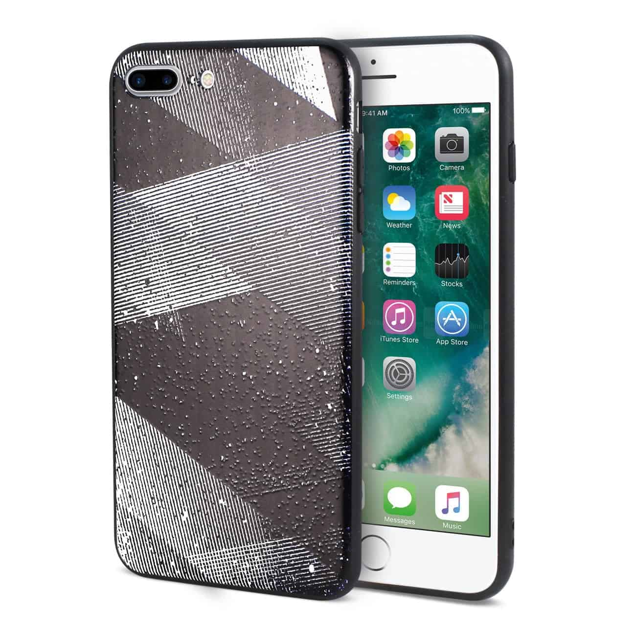 IPHONE 7 PLUS DESIGN TPU CASE WITH SHADES OF OBLIQUE STRIPES