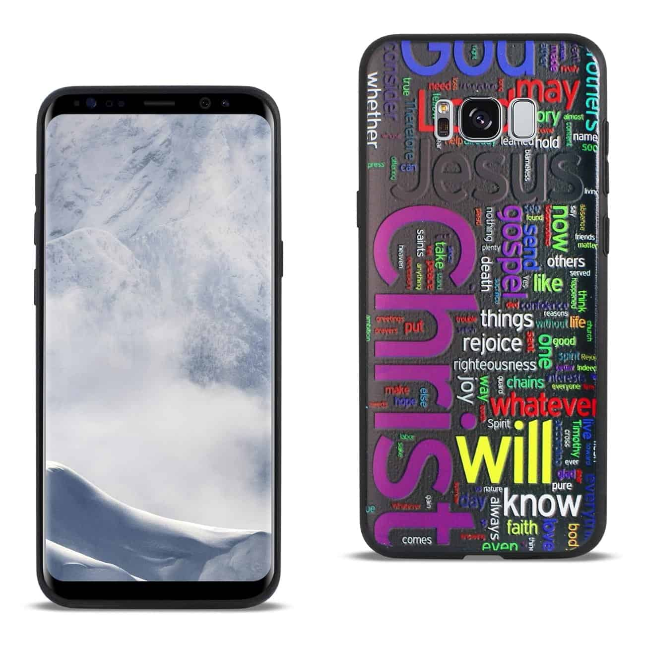 SAMSUNG GALAXY S8 EDGE DESIGN TPU CASE WITH VIBRANT WORD CLOUD JESUS LETTERS