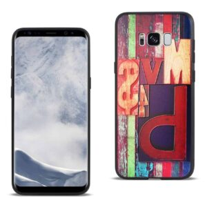 SAMSUNG GALAXY S8 EDGE EMBOSSED WOOD PATTERN DESIGN TPU CASE WITH FLOWERS