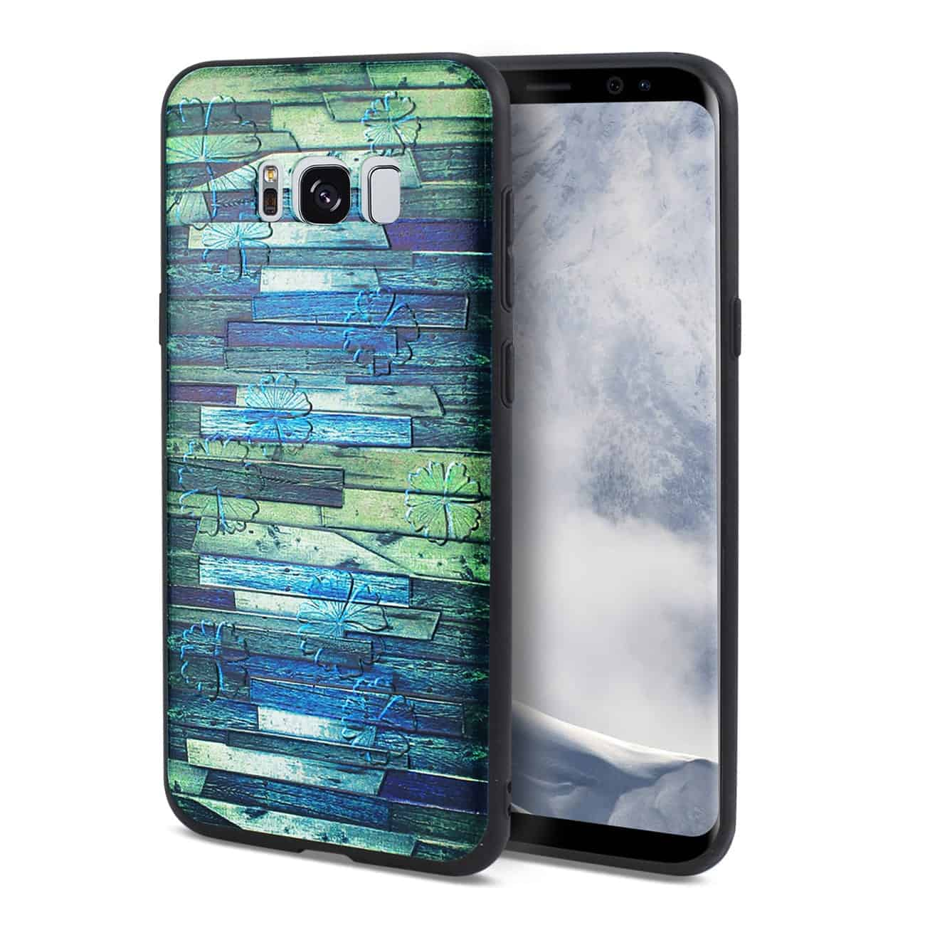 SAMSUNG GALAXY S8 EDGE EMBOSSED WOOD PATTERN DESIGN TPU CASE WITH MULTI-LETTER