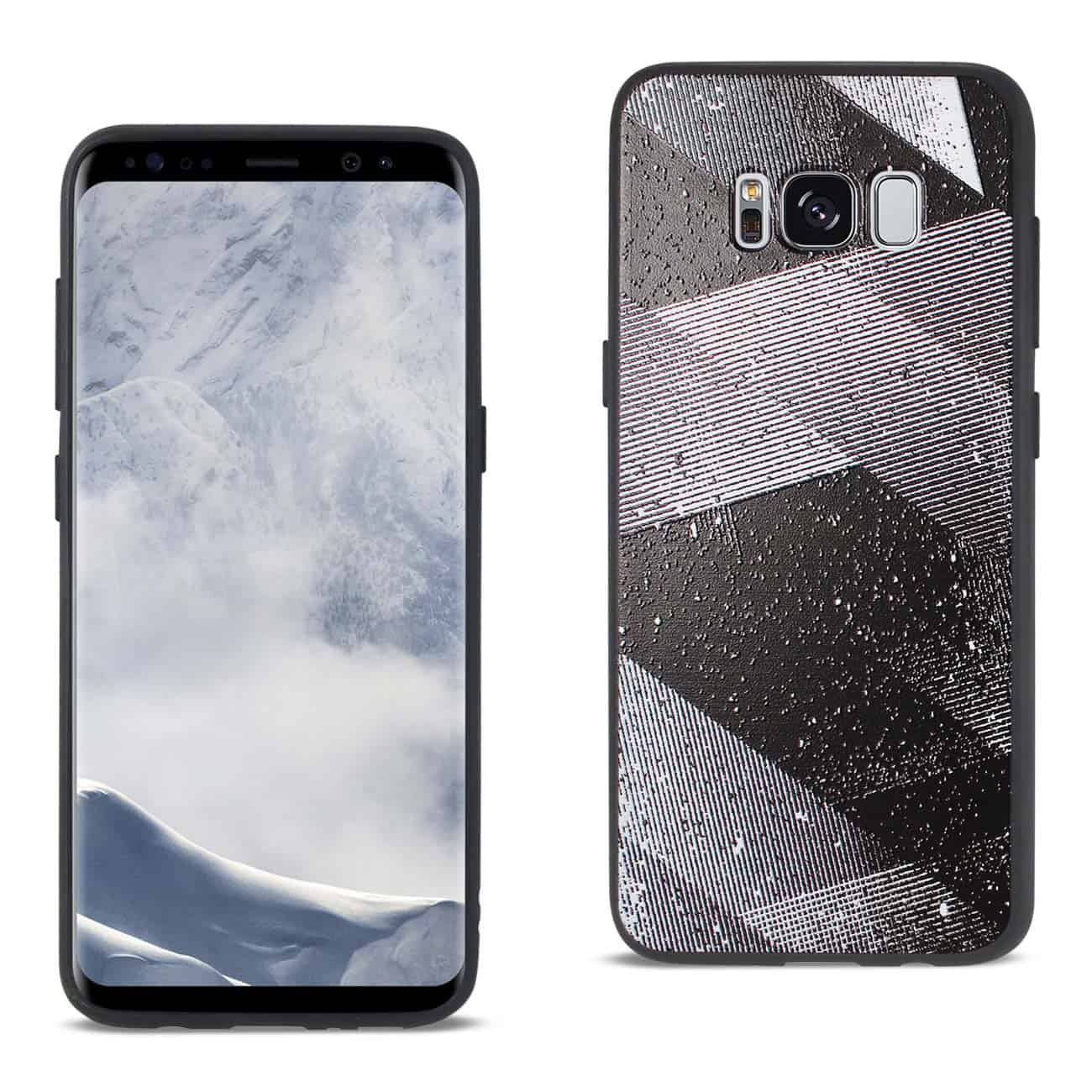 SAMSUNG GALAXY S8 DESIGN TPU CASE WITH SHADES OF OBLIQUE STRIPES