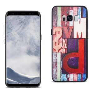 SAMSUNG GALAXY S8 EMBOSSED WOOD PATTERN DESIGN TPU CASE WITH FLOWERS