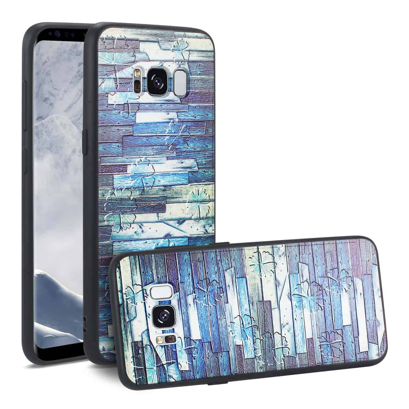 SAMSUNG GALAXY S8 EMBOSSED WOOD PATTERN DESIGN TPU CASE WITH MULTI-LETTER
