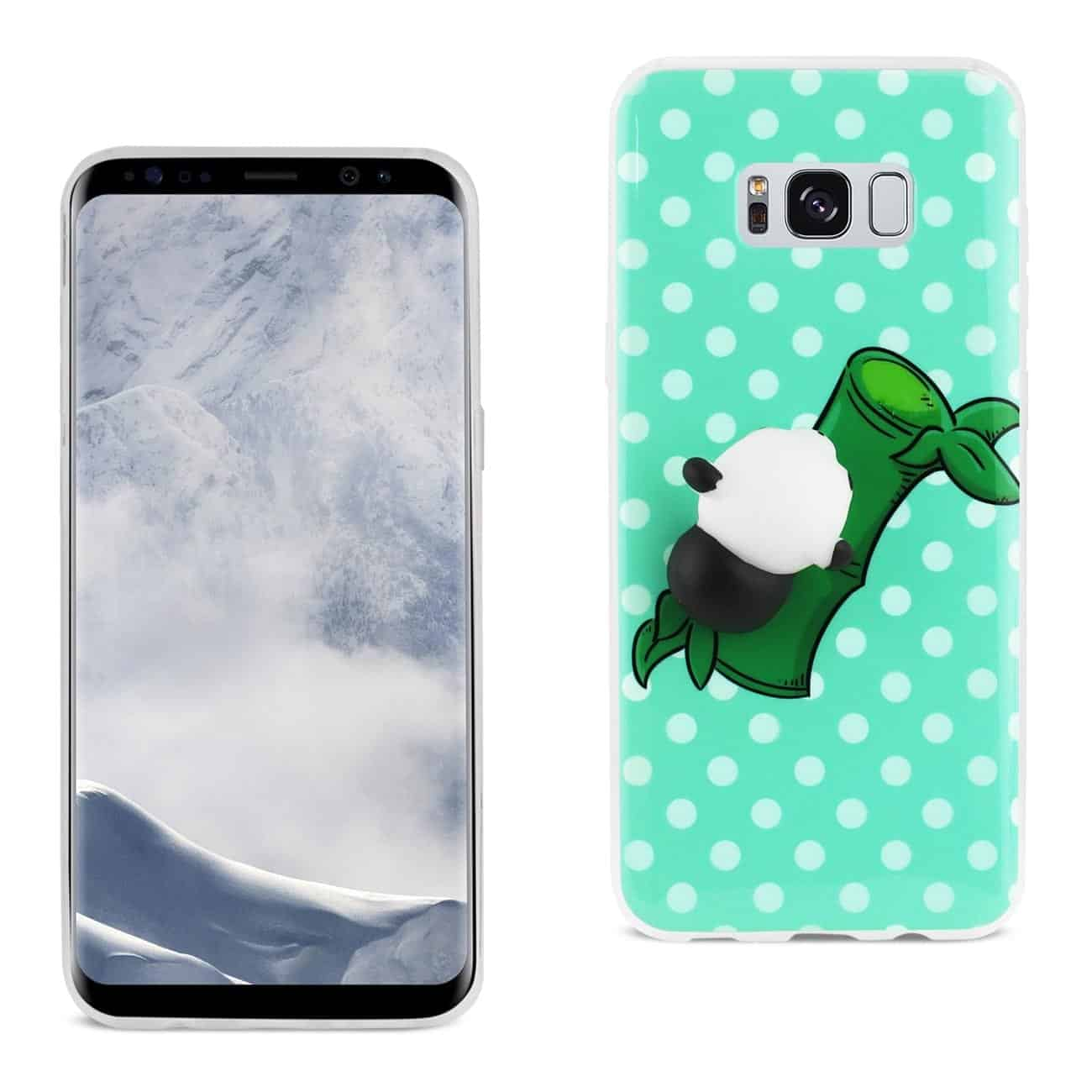 SAMSUNG GALAXY S8 EDGE TPU DESIGN CASE WITH  3D SOFT SILICONE POKE SQUISHY PANDA
