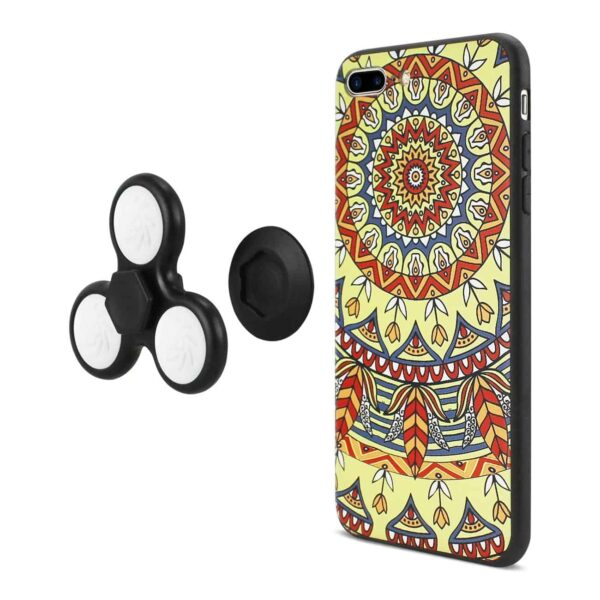 DESIGN THE INSPIRATION OF TERRE IPHONE 7 PLUS/ 6 PLUS/ 6S PLUS CASE WITH LED FIDGET SPINNER CLIP ON IN SAFFRON