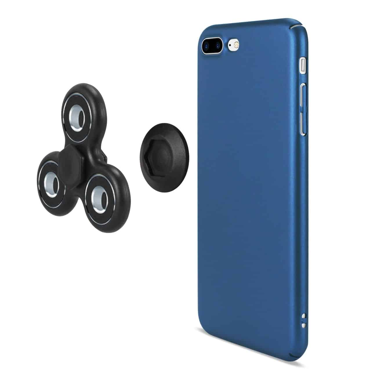 IPHONE 7 PLUS/ 6 PLUS/ 6S PLUS CASE WITH LED FIDGET SPINNER CLIP ON IN NAVY