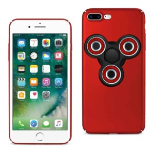 IPHONE 7 PLUS/ 6 PLUS/ 6S PLUS CASE WITH LED FIDGET SPINNER CLIP ON IN RED