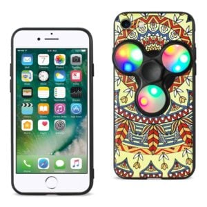DESIGN THE INSPIRATION OF TERRE IPHONE 7/ 6/ 6S CASE WITH LED FIDGET SPINNER CLIP ON IN SAFFRON