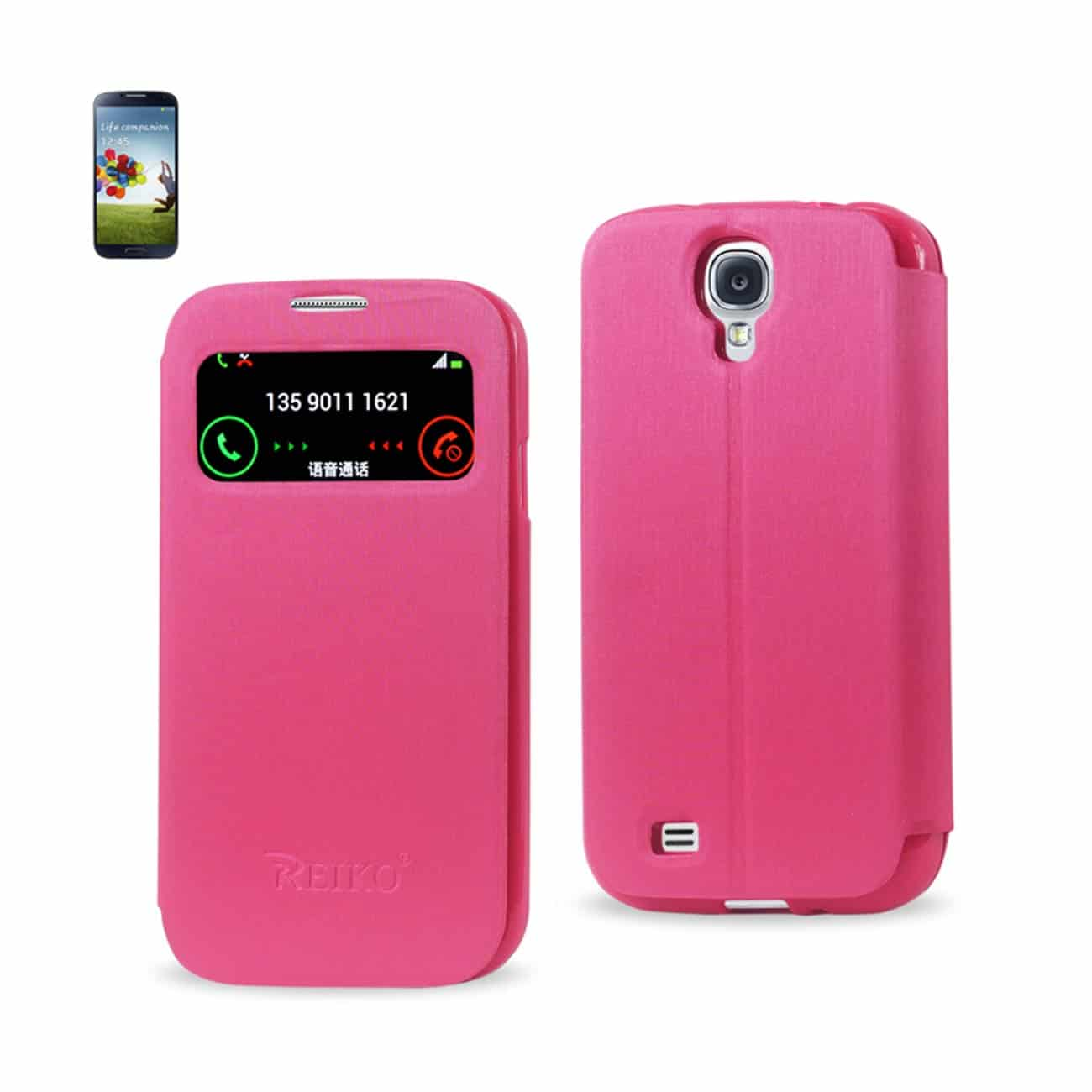 SAMSUNG GALAXY S4 SMART WINDOW FLIP CASE IN HOT PINK