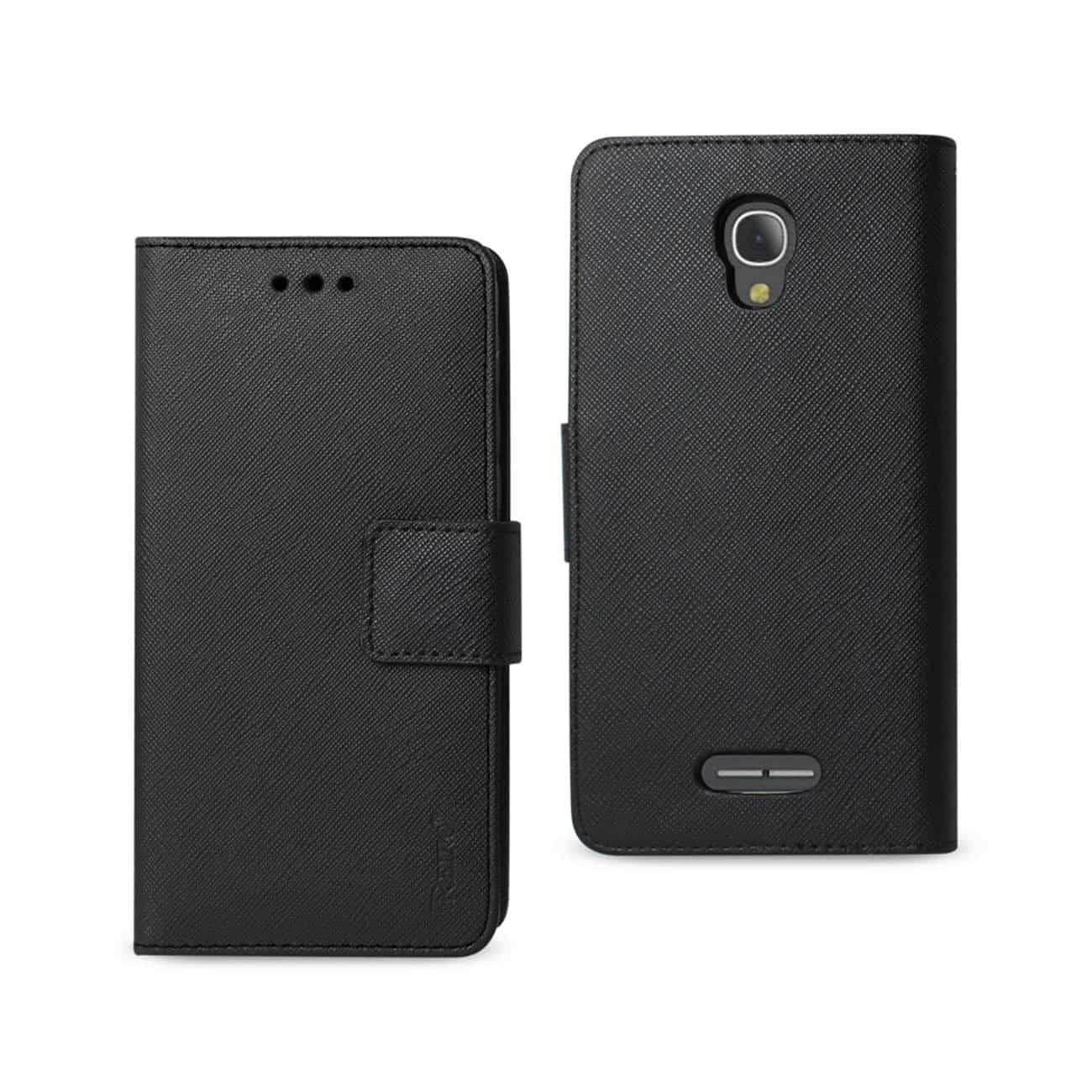ALCATEL FIERCE 4 3-IN-1 WALLET CASE IN BLACK