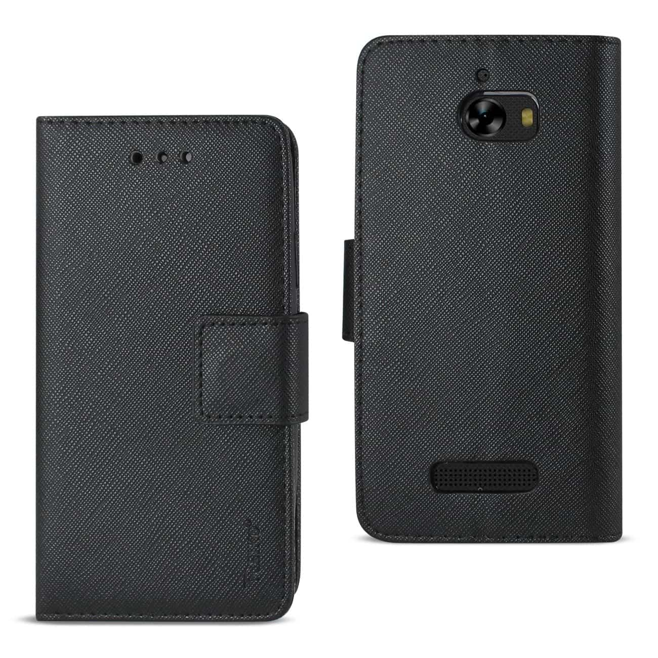 COOLPAD DEFIANT 3-IN-1 WALLET CASE IN BLACK