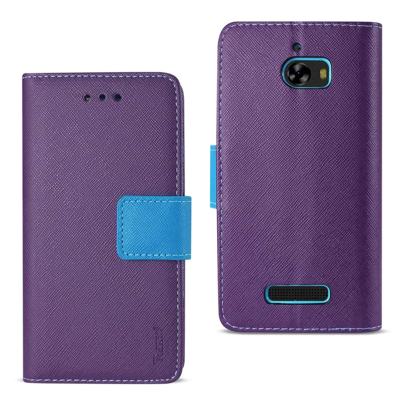 COOLPAD DEFIANT 3-IN-1 WALLET CASE IN PURPLE