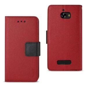 COOLPAD DEFIANT 3-IN-1 WALLET CASE IN RED