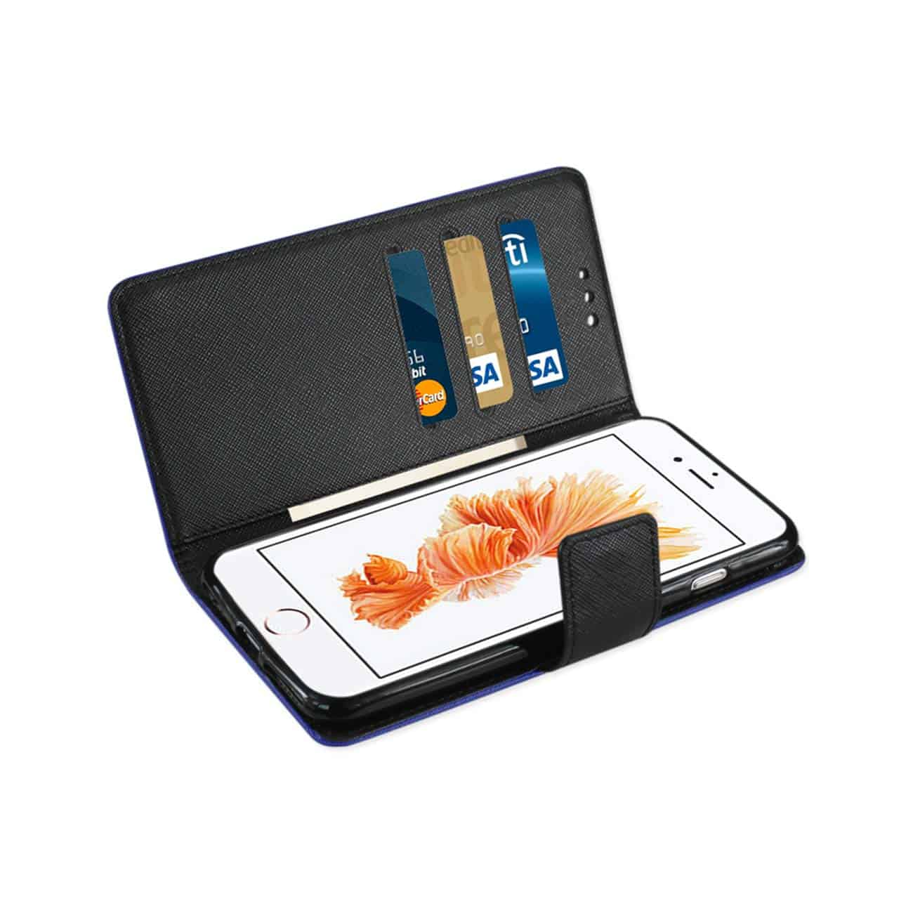 iPhone 8 Plus/ 7 Plus 3-In-1 Wallet Case In Navy
