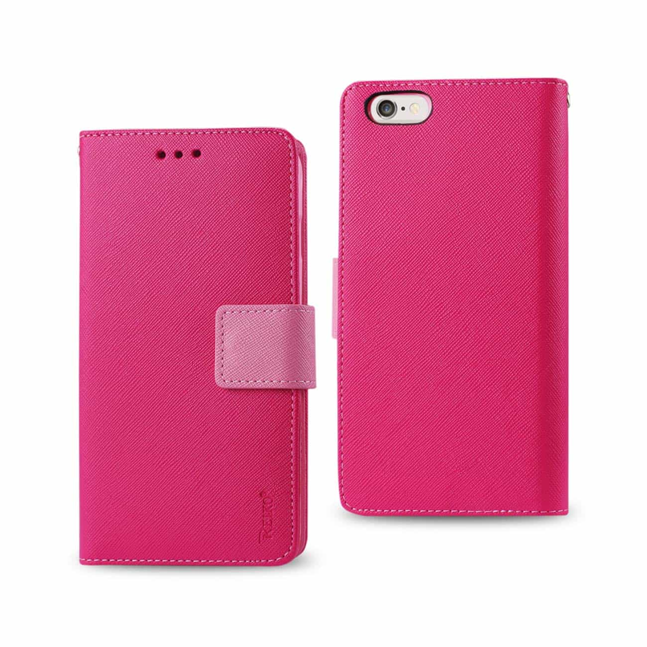 IPHONE 6 PLUS 3-IN-1 WALLET CASE IN HOT PINK