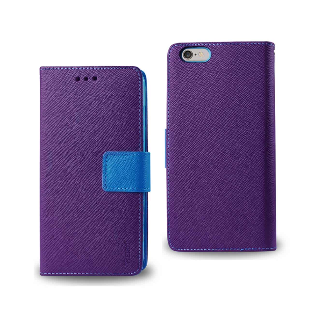IPHONE 6 PLUS 3-IN-1 WALLET CASE IN PURPLE