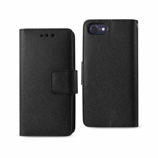 iPhone 8/ 7 3-In-1 Wallet Case In Black