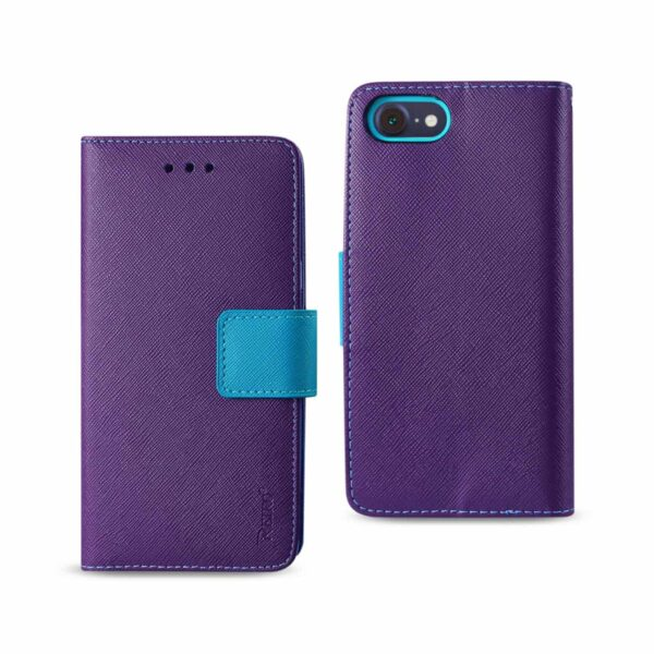 iPhone 8/ 7 3-In-1 Wallet Case In Purple