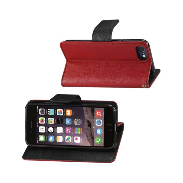 iPhone 8/ 7 3-In-1 Wallet Case In Red