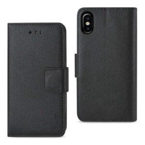 IPHONE X 3-IN-1 WALLET CASE IN BLACK