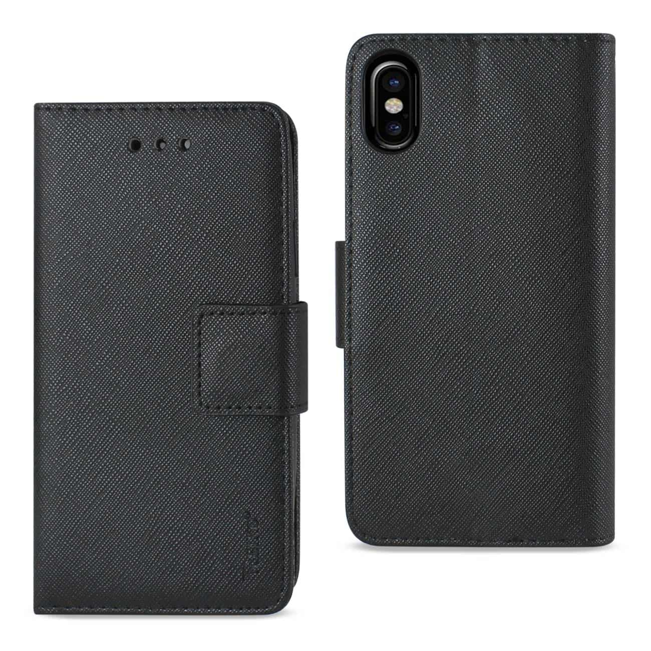IPHONE X 3-IN-1 WALLET CASE IN BLACK