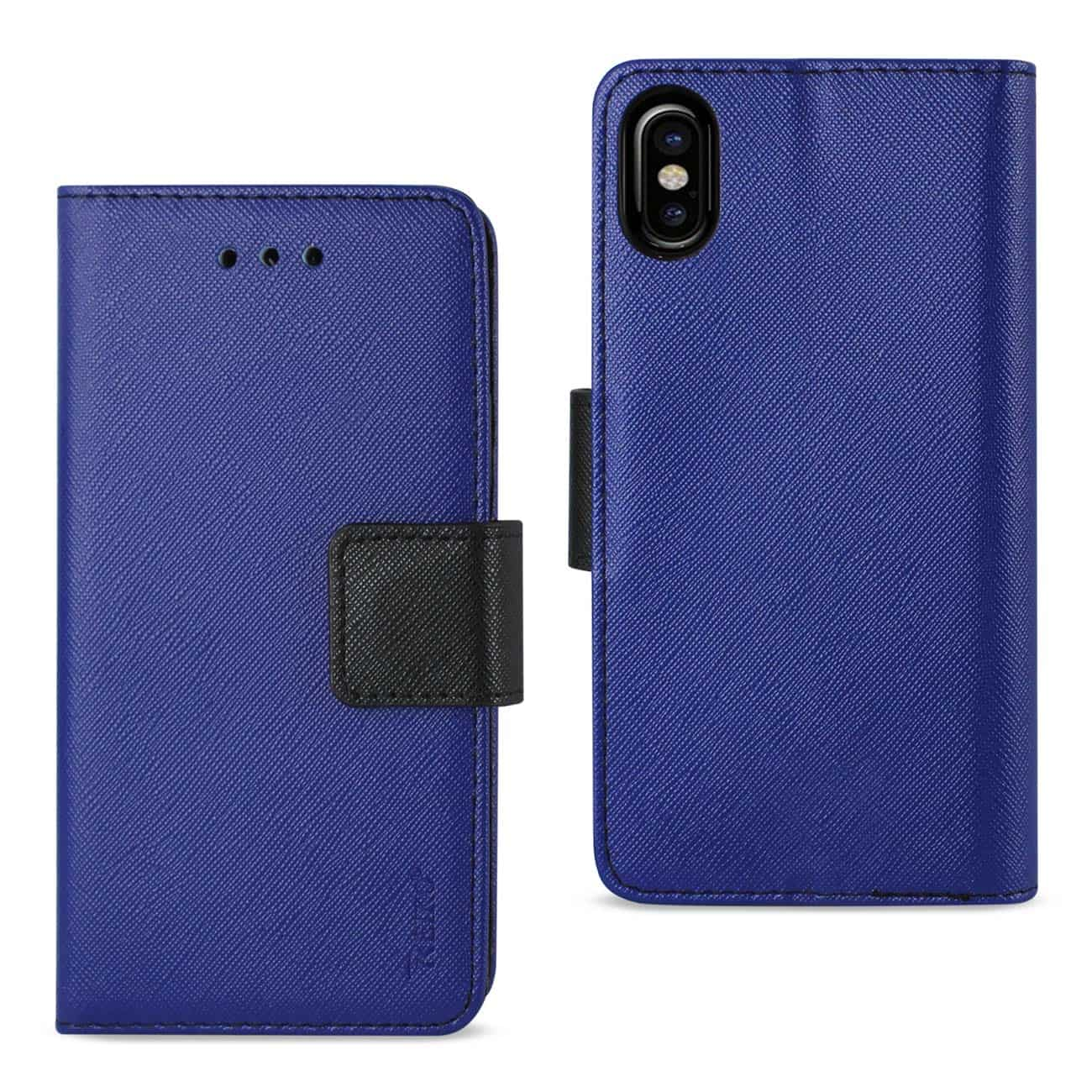 IPHONE X 3-IN-1 WALLET CASE IN NAVY