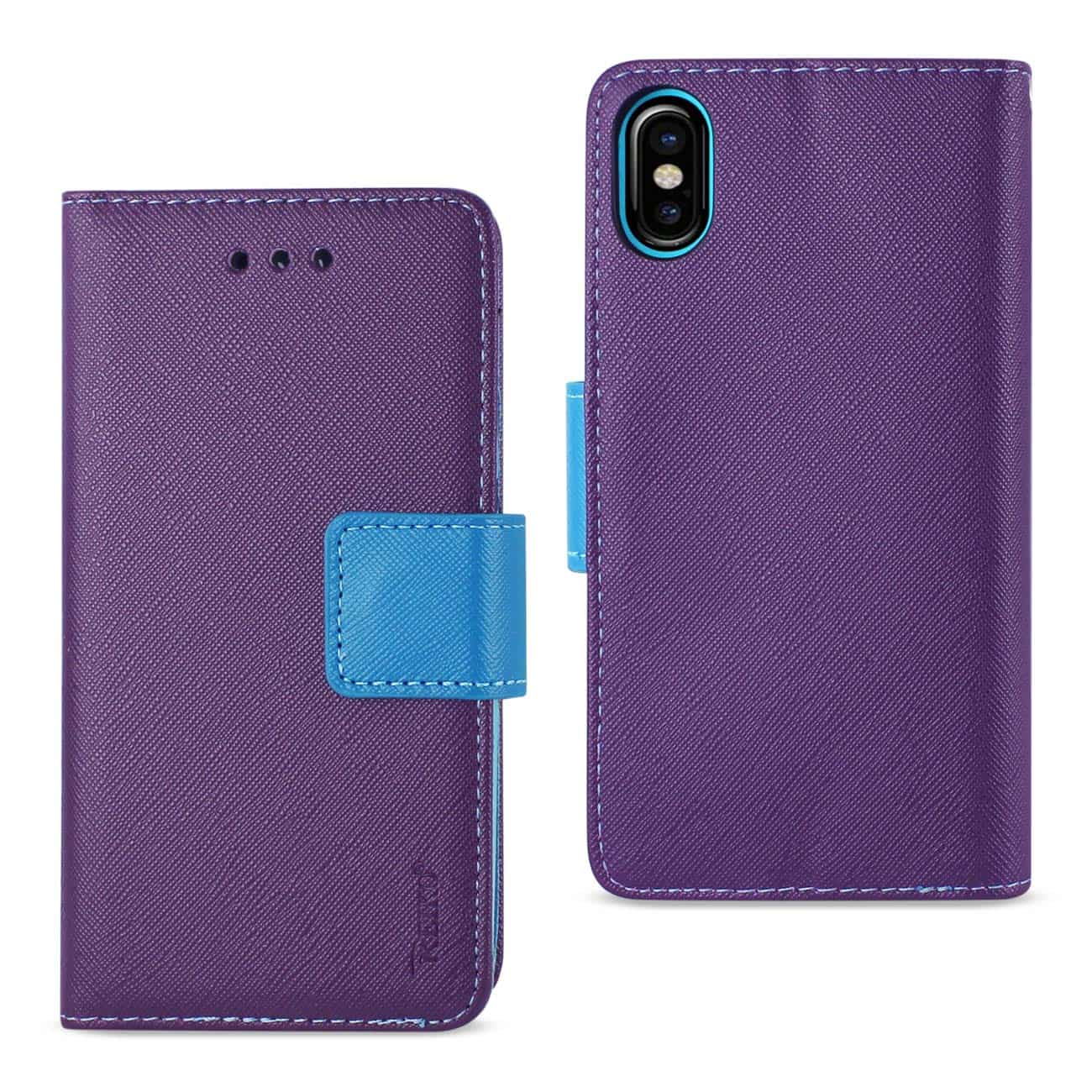 IPHONE X 3-IN-1 WALLET CASE IN PURPLE