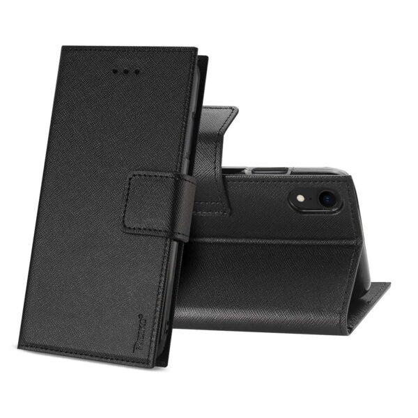 iPhone XR 3-IN-1 WALLET CASE IN BLACK