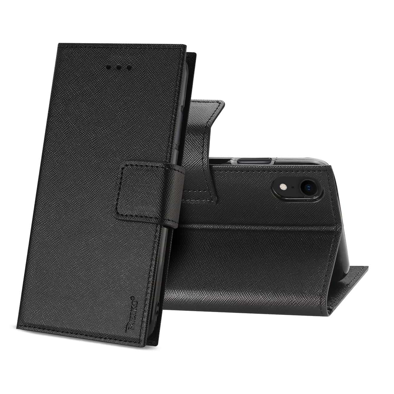 iPhone XR 3-IN-1 WALLET CASE IN BLACK