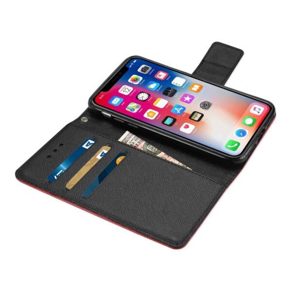 IPHONE X 3-IN-1 WALLET CASE IN RED