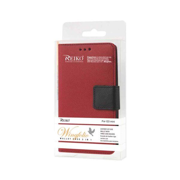 LG G3 MINI 3-IN-1 WALLET CASE IN RED