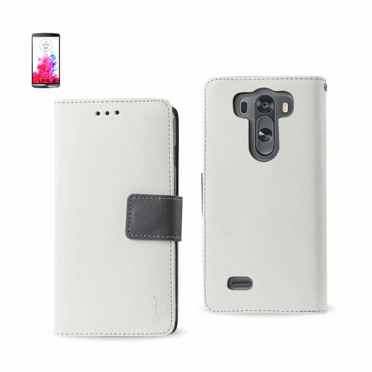 LG G3 MINI 3-IN-1 WALLET CASE IN WHITE