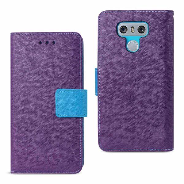 LG G6 3-IN-1 WALLET CASE IN PURPLE