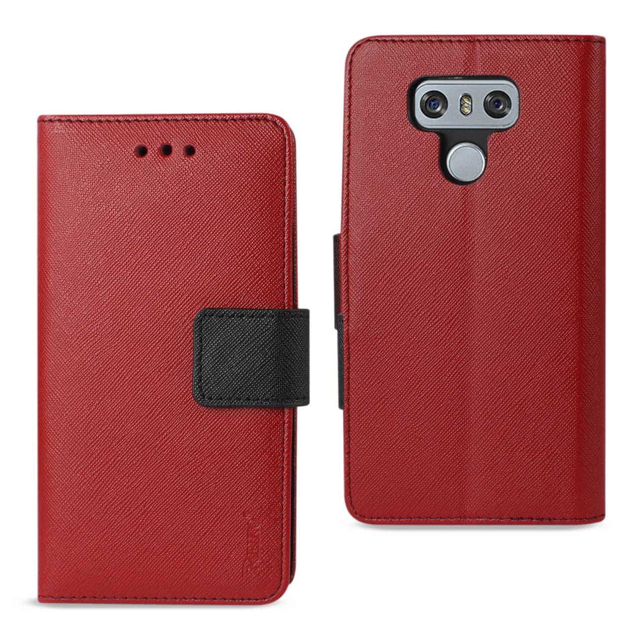 LG G6 3-IN-1 WALLET CASE IN RED