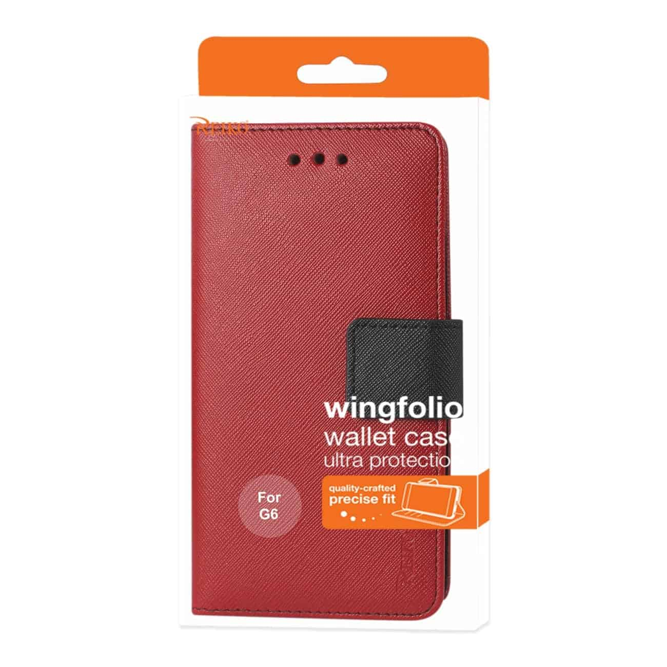LG G6 3-IN-1 WALLET CASE IN RED