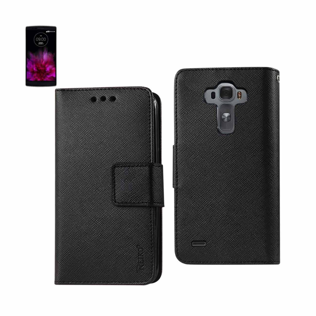 LG G FLEX 2 3-IN-1 WALLET CASE IN BLACK