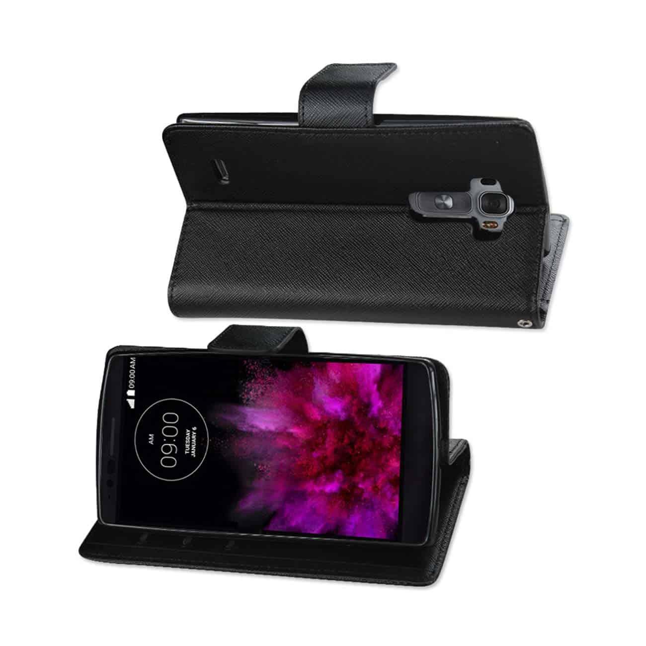 LG G FLEX 2 3-IN-1 WALLET CASE IN BLACK