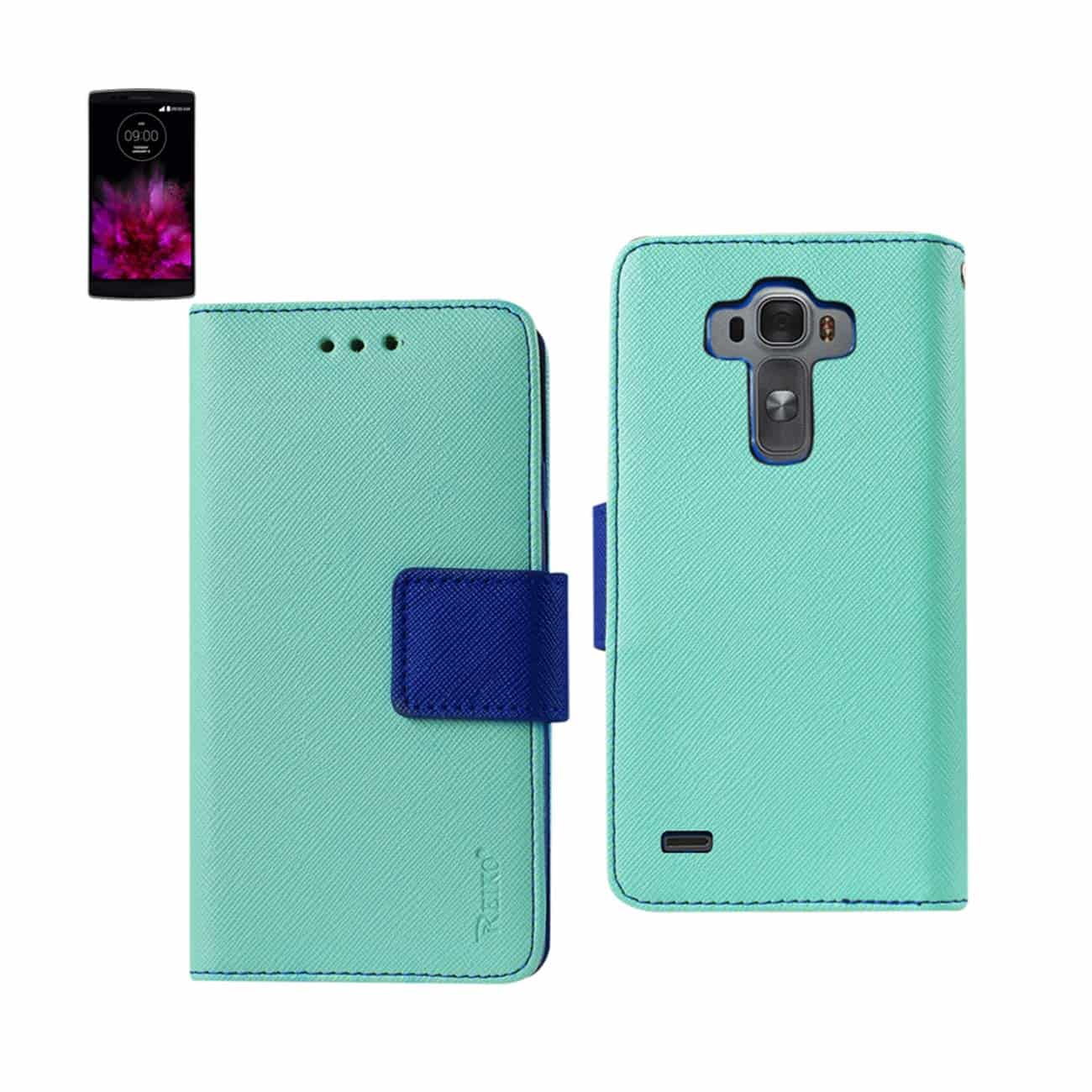LG G FLEX 2 3-IN-1 WALLET CASE IN GREEN