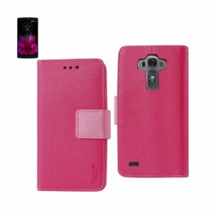 LG G FLEX 2 3-IN-1 WALLET CASE IN HOT PINK