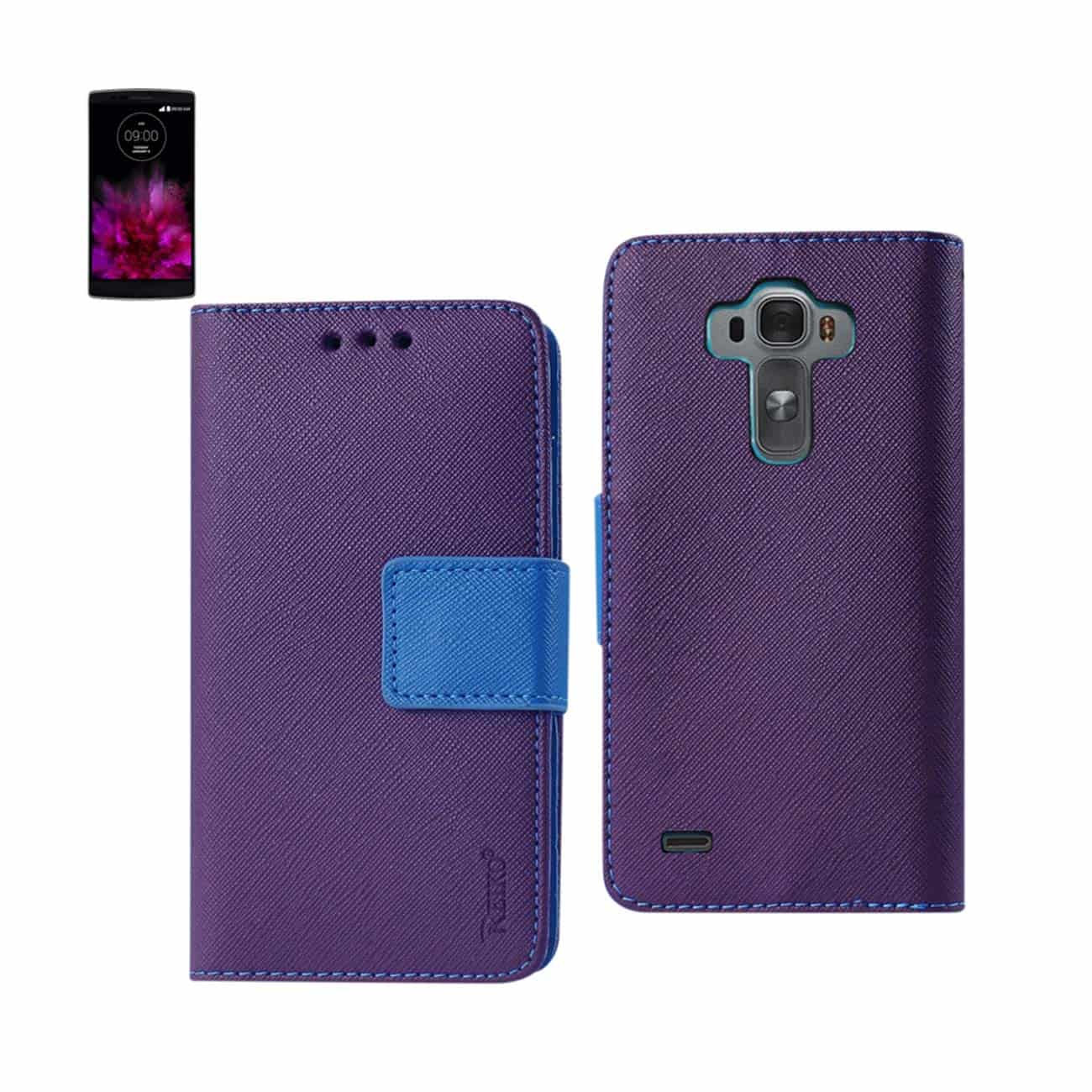 LG G FLEX 2 3-IN-1 WALLET CASE IN PURPLE