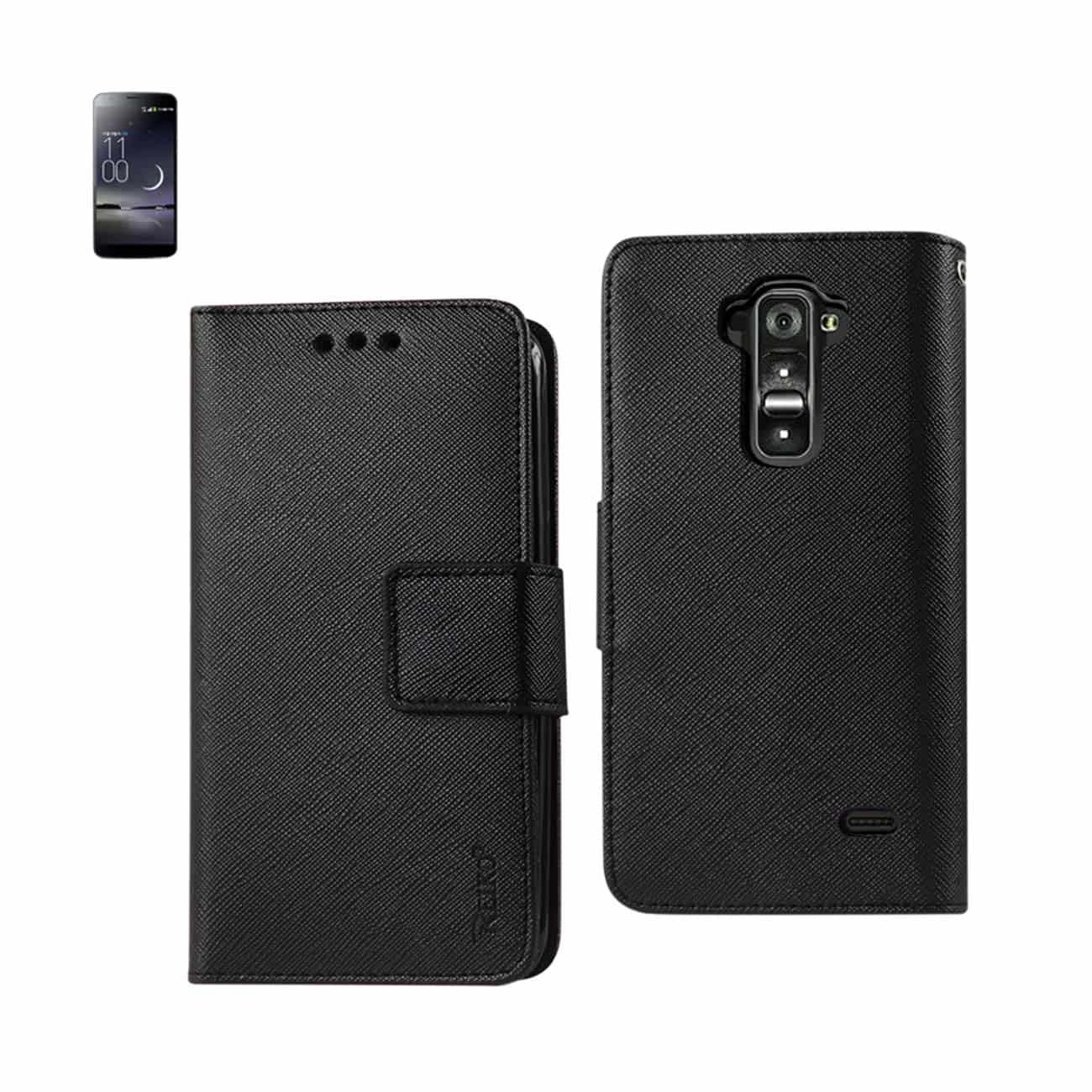 LG G FLEX 3-IN-1 WALLET CASE IN BLACK